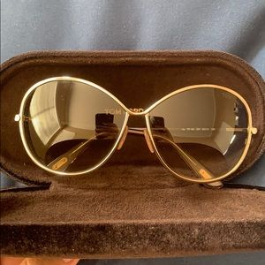 Gold/Brown Tom Ford sunglasses